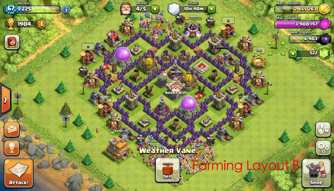 Clan town hall 7 clashers clash of clans onclan