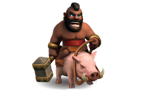 cch phng ch63ng hog riders trong clash of clans