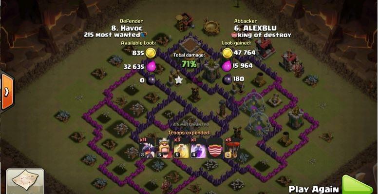 Clash of Clans Bố trí base war cho Hall 8 chống 3*