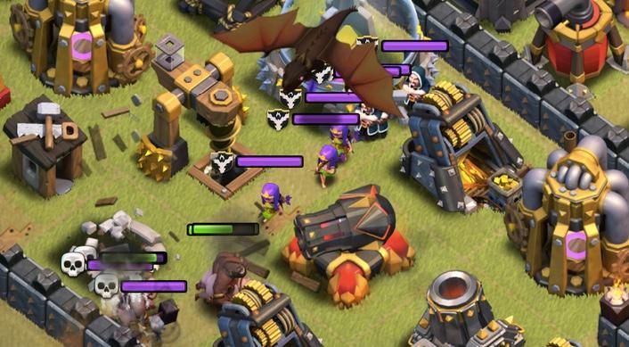 Figure 4: Clash of Clans Lính phòng thủ tốt nhất cho từng level Clan Castle khi đi War